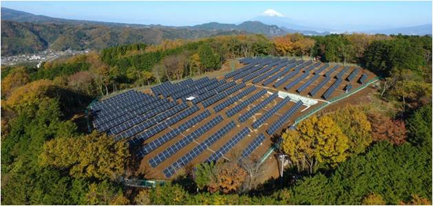 Solar Farm in the Fall