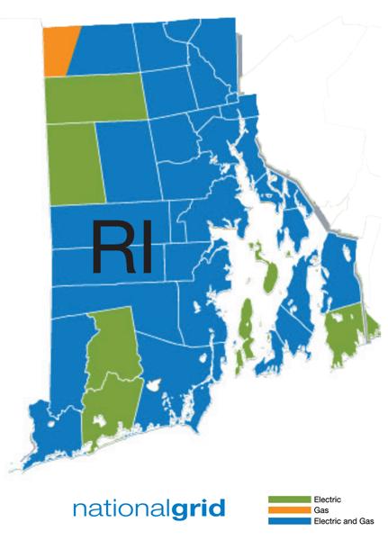 Rhode Island National Grid Map